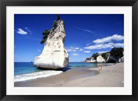 Framed Cathedral Cove, Coromandel Peninsula Print
