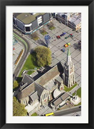 Framed Cathedral Church of Christ, Christchurch, South Island, New Zealand Print