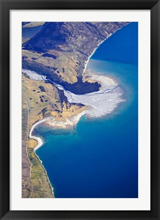 Framed Dingle Burn Entering Lake Hawea, South Island, New Zealand Print
