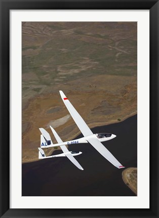 Framed Gliders Racing near Omarama, South Island, New Zealand Print