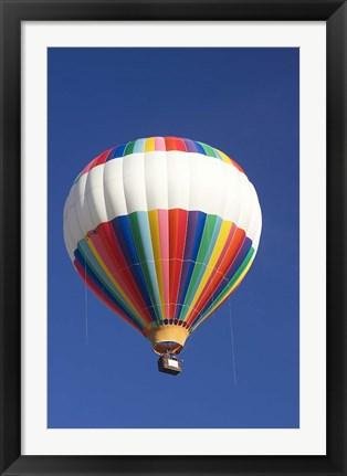 Framed Hot-air Balloon, South Island, New Zealand Print
