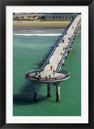 Framed New Brighton Pier, Christchurch, South Island, New Zealand Print
