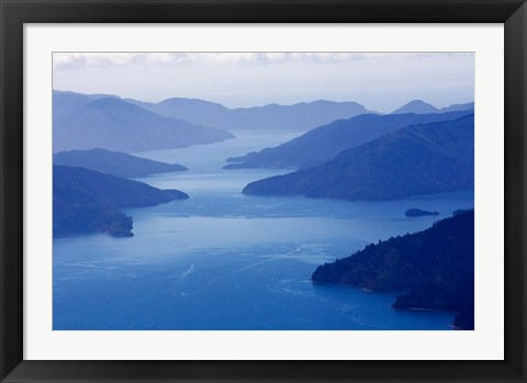 Framed Queen Charlotte Sound, South Island, New Zealand Print
