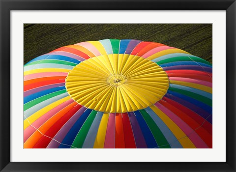 Framed Top of a Hot-air Balloon, South Island, New Zealand Print