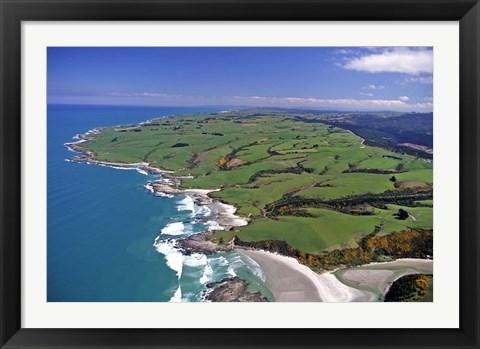 Framed Akatore Creek, South of Taieri Mouth, South Otago, New Zealand Print