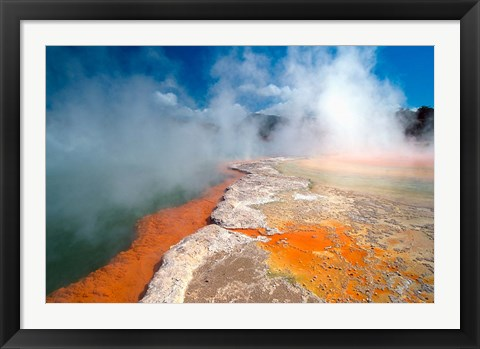 Framed Champagne Pool, Waiotapu Thermal Wonderland near Rotorua, New Zealand Print