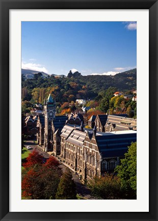 Framed University of Otago, Dunedin, New Zealand Print