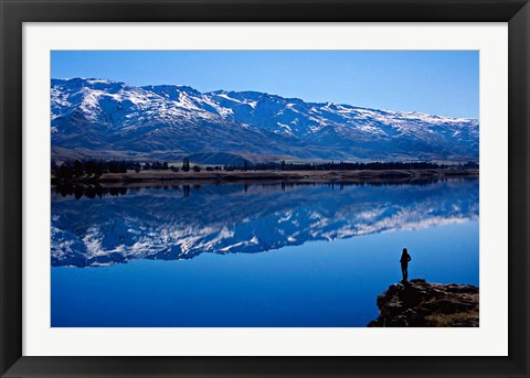 Framed Lake Dunstan and Pisa Range, Central Otago Print