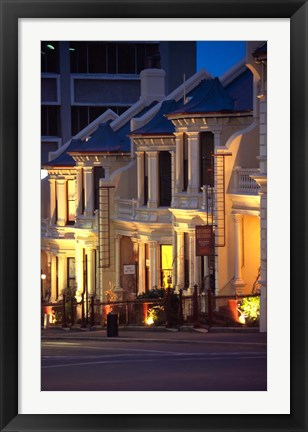 Framed Terrace Houses, Stuart Street, Dunedin, New Zealand Print