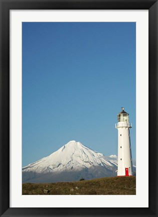 Framed Cape Egmont Lighthouse, North Island, New Zealand Print