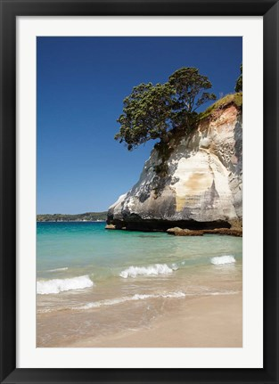Framed Cathedral Cove, Coromandel Peninsula, North Island, New Zealand Print