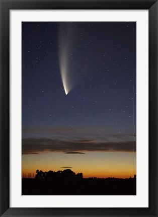 Framed Comet McNaught, South Island, New Zealand Print