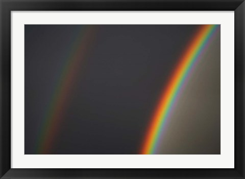 Framed Double Rainbow, Dunedin, Otago, South Island, New Zealand Print