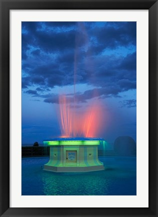 Framed Fountain, Marine Parade, Napier, Hawkes Bay, New Zealand Print