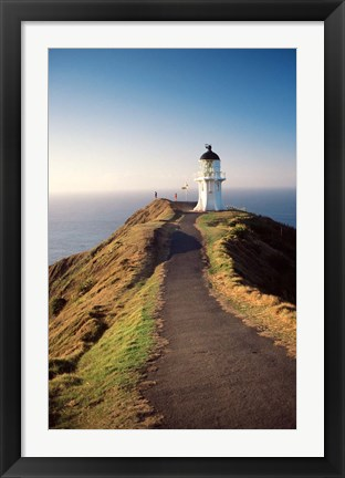 Framed Lighthouse of Cape Reigna, Northland, New Zealand Print
