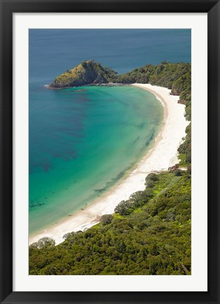 Framed New Chums Beach and Motuto Point, Coromandel Peninsula, North Island, New Zealand Print