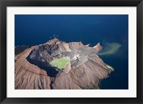 Framed New Zealand, North Island, Crater Lake, Volcano Print