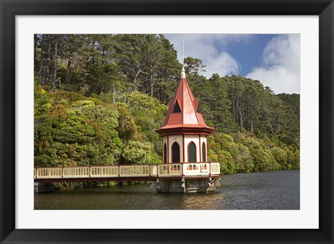 Framed New Zealand, North Island, Karori Wildlife, Tower Print