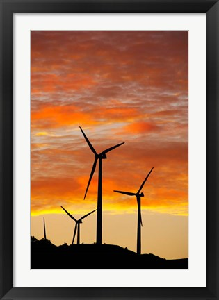 Framed New Zealand, North Island, Te Apiti Wind Farm, Energy Print
