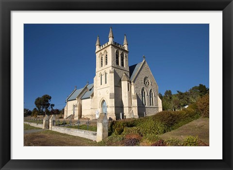 Framed New Zealand, South Island, St Martins Anglican Church Print