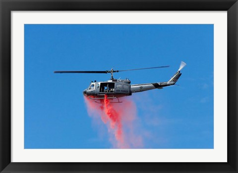 Framed New Zealand, Warbirds Over Wanaka, Vintage Helicopter Print