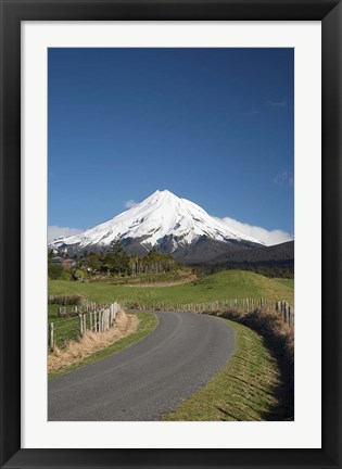 Framed Road, Mt Taranaki, Mt Egmont, North Island, New Zealand Print