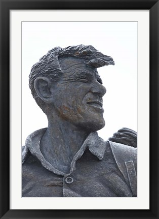 Framed Sir Edmund Hillary Statue, South Island, New Zealand Print