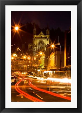 Framed St Paul's Cathedral, Octagon, Dunedin, South Island, New Zealand Print