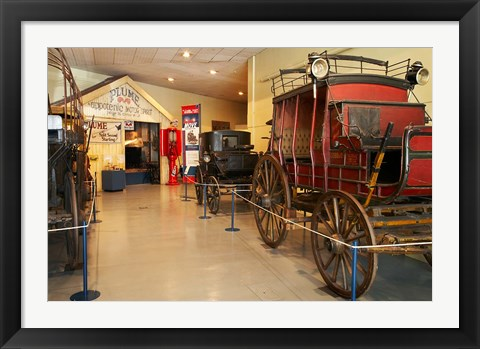 Framed Stage Coach, Otago Settlers, South Island, New Zealand Print