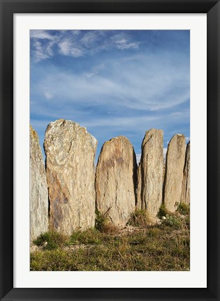 Framed Stone sheep yards, Middlemarch, South Island, New Zealand Print