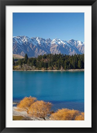 Framed Remarkables, Lake Wakatipu, South Island, New Zealand Print