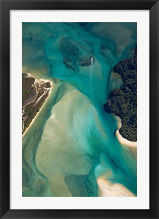 Framed Tidal Patterns, Awaroa Inlet, South Island, New Zealand Print