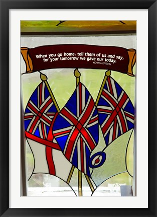 Framed Union Jack flag, St James, North Island, New Zealand Print