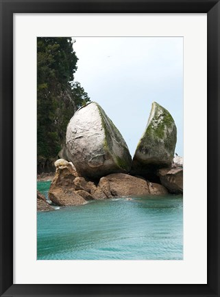 Framed Split Apple Rock, South Island, New Zealand Print