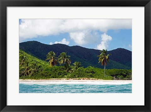 Framed Tobacco Beach, Antigua, West Indies, Caribbean Print