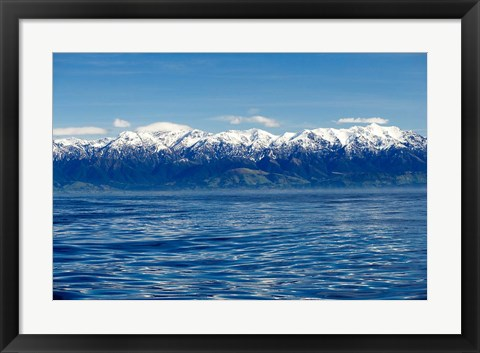Framed New Zealand, Marlborough, Seaward Kaikoura Ranges Print