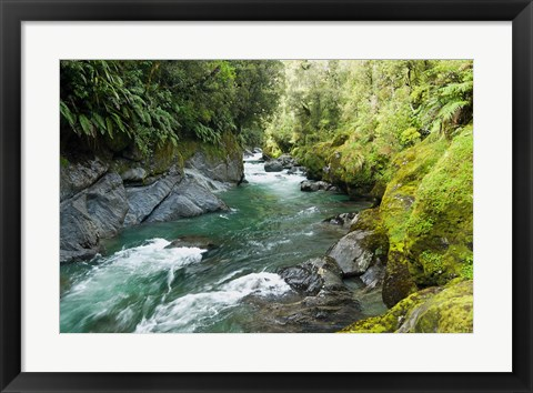 Framed New Zealand, South Island, Crocked River Print