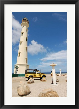 Framed California Lighthouse, Oranjestad, Aruba Print