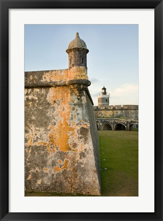 Framed Puerto Rico, Walls and Turrets of El Morro Fort Print