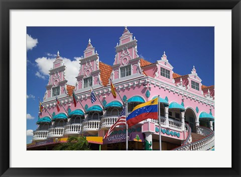 Framed Royal Plaza Shopping Mall, Oranjestad, Aruba, Caribbean Print