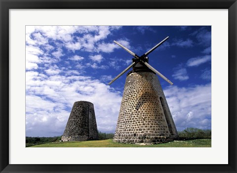 Framed Antigua, Betty's Hope, Suger plant, windmill Print