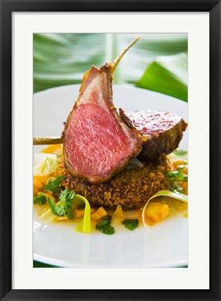 Framed Spiced Lamb Rack cuisine, Antigua, Caribbean Print