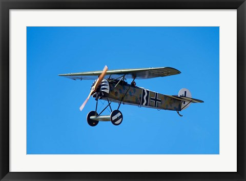 Framed German WWI Fokker D-8 fighter plane, War plane Print