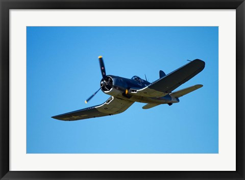 Framed Goodyear Corsair FG-1D  'whispering death' fighter bomber Print