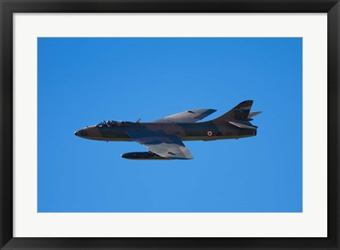 Framed Hawker Hunter jet fighter, War plane Print
