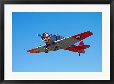 Framed North American Harvard, or T-6 Texan, or SNJ, War plane Print