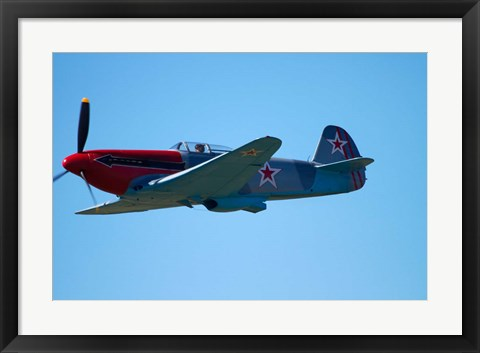 Framed Yakovlev Yak-3, WWII Russian Fighter Plane, War plane Print
