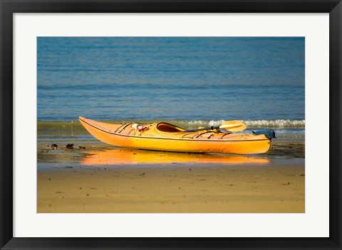 Framed New Zealand, South Island, Titirangi Bay, Kayaking Print