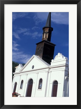 Framed Village Church, Martinique, Caribbean Print