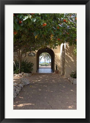Framed Archway to Pool at Tierra del Sol Golf Club and Spa, Aruba, Caribbean Print